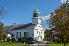 Prima chiesa di Merrimack in Merrimack, NH, U.S.A. immagine stock libera da diritti