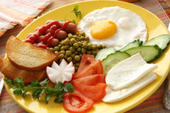 Prima colazione. Immagini Stock