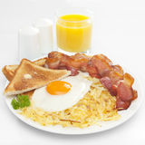 Prima colazione americana Immagini Stock Libere da Diritti