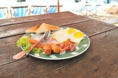 Prima colazione americana Fotografie Stock