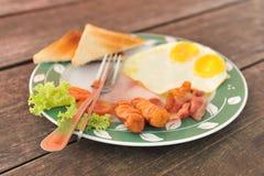 Prima colazione americana Fotografia Stock