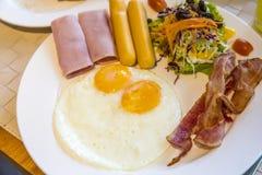 Prima colazione americana Immagini Stock