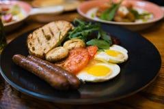 Prima colazione americana nello stile russo Fotografia Stock Libera da Diritti