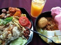 Prima colazione asiatica fotografie stock
