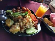Prima colazione asiatica fotografie stock libere da diritti
