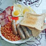 Prima colazione britannica Fotografia Stock Libera da Diritti