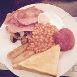 Prima colazione britannica Immagini Stock