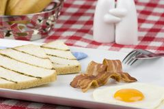 Prima colazione calorosa Immagine Stock