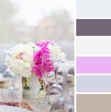 Prima colazione, campioni della tavolozza di colore. Fotografie Stock