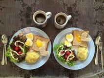 Prima colazione casalinga Immagine Stock Libera da Diritti