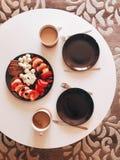 Prima colazione casalinga Fotografia Stock Libera da Diritti