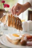 Prima colazione che è servita Fotografia Stock
