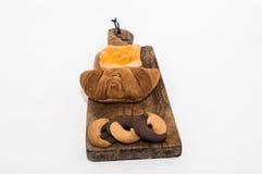 Prima colazione con i croissant, i biscotti e l'inceppamento Fotografie Stock