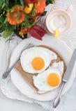 Prima colazione con i fiori Fotografia Stock