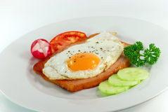 Prima colazione con l'uovo, arrostito minuto Fotografia Stock Libera da Diritti