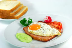 prima colazione con l'uovo bollito, toa Fotografie Stock