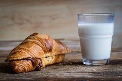 Prima colazione con latte Immagini Stock