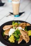 Prima colazione con le uova Immagini Stock