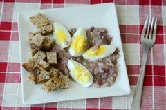 Prima colazione con le uova Fotografie Stock Libere da Diritti