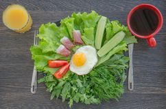 Prima colazione con le uova rimescolate Fotografia Stock Libera da Diritti