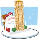 Prima colazione con Santa Claus Immagini Stock