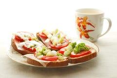 Prima colazione con tè Immagine Stock