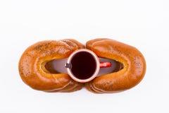 Prima colazione con tè dolce Immagine Stock Libera da Diritti