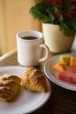 Prima colazione continentale fotografia stock