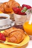Prima colazione continentale. Immagine Stock
