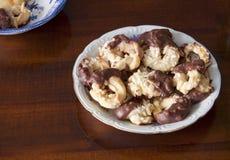 Prima colazione continentale, biscotti casalinghi immagine stock libera da diritti