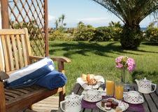 Prima colazione in Corsica Immagini Stock Libere da Diritti