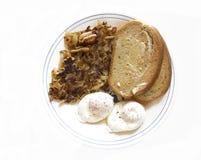 Prima colazione cotta in camicia dell'uovo Fotografia Stock Libera da Diritti