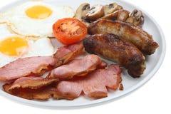Prima colazione cucinata fritta inglese Immagine Stock Libera da Diritti