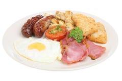 Prima colazione cucinata inglese fotografie stock libere da diritti