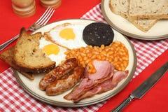 Prima colazione cucinata inglese fotografia stock