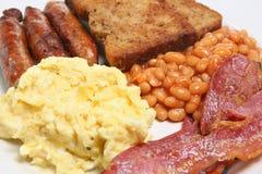 Prima colazione cucinata inglese immagine stock