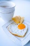 Prima colazione dall'uovo e dal caffè Immagini Stock Libere da Diritti
