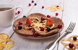 Prima colazione dei pancake Immagine Stock