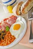 Prima colazione del bacon e dell'uovo immagini stock