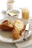 Prima colazione del Baguette Fotografie Stock
