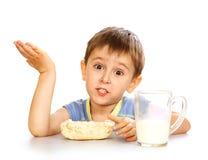Prima colazione del bambino Immagini Stock