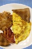 Prima colazione del paese delle uova e del bacon immagine stock