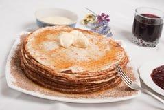 Prima colazione del pancake Fotografia Stock Libera da Diritti