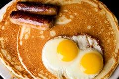 Prima colazione del pancake Immagini Stock