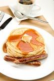 Prima colazione del pancake Fotografia Stock
