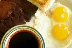 Prima colazione del prosciutto del paese Immagine Stock