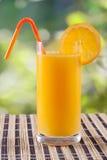 Prima colazione del succo di arancia Fotografie Stock Libere da Diritti