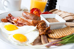Prima colazione dell'amante della carne Fotografia Stock Libera da Diritti