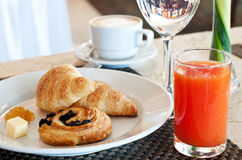 Prima colazione dell'hotel Fotografia Stock