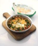 Prima colazione dell'omelette di buongiorno immagini stock libere da diritti
